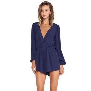 Lovers + Friends Monday Through Friday Navy Romper
